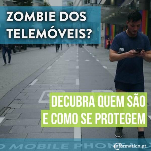 Zombies dos telemóveis com faixa pedonal na China