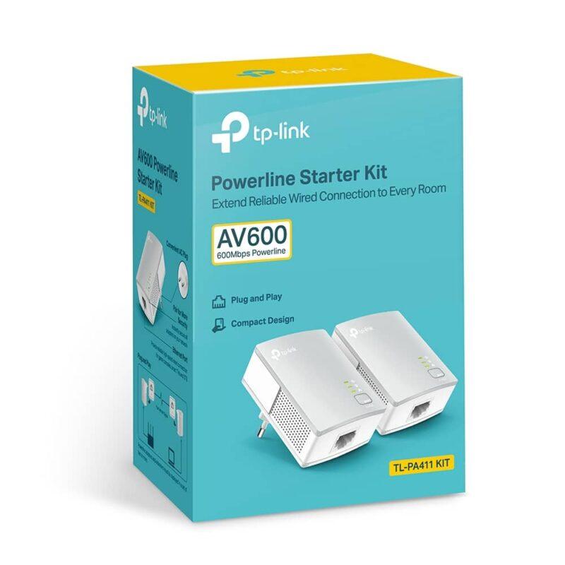 Powerline 500M Homeplug AV+ Mini, QoS, Kit de 2