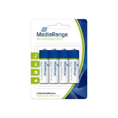 Pilhas Recarregáveis Mediarange AA|HR6 – Pack 4