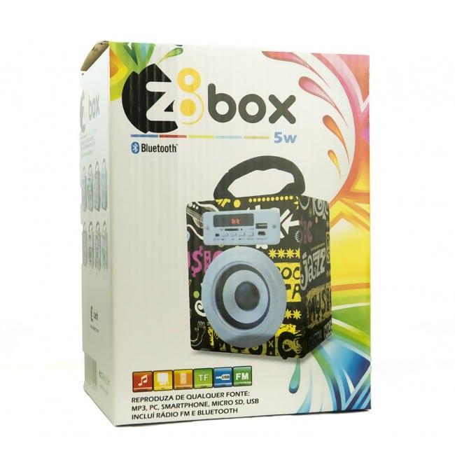 Coluna Portátil Z8Box Bluetooth 5W Branca