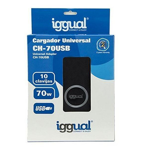 Carregador Iggual para portátil Universal 70W – USB