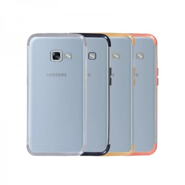 funda-silicona-samsung-galaxy-a3-2017-gel-transparente-con-el-borde-metalizado-4-colores