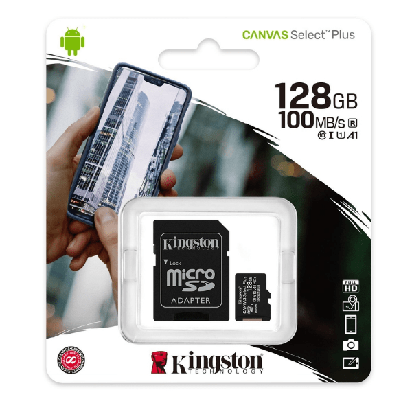 Cartão Micro SD 128GB – Kingston